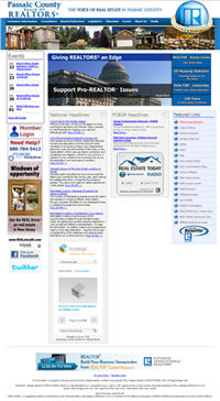 RE/Advantage Board Web Design - Passaic County BOR